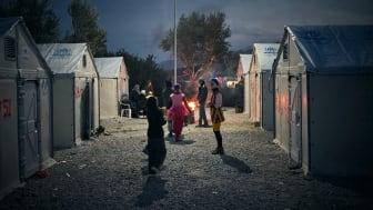 Clowner utan Gränser Sverige på Lesbos, Grekland. Foto av Alex Hinchcliffe