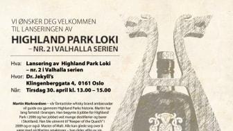 Highland Park Loki Single Malt Whisky - lansering av nr. 2 i Valhalla serien fra Highland Park
