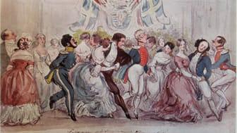 Dans under småtimmarna på bal i Börshuset 1844 för firandet av Oscar I:s kröning av Fritz von Dardel