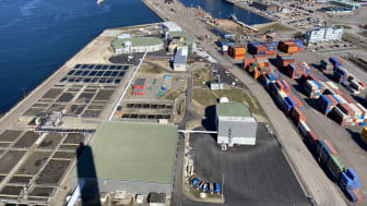 Öresundsverket från ovan, 2021-04-14. Fotograf: William Blendberg