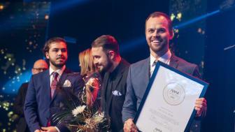 Jakob Nordlund, Alexander Nordlund och Johnny Hedlund från The Local Store – vinnare i kategorin Årets handelsföretag vid Alvargalan 2020.