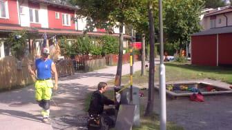 Projekt i Haninge/Djurgårdsvägen, Wemevägen Helhetsåtagande Fiber to the home