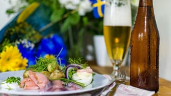 Traditional Swedish midsummer meal