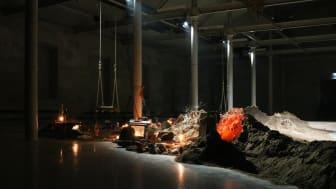 Installationsvy, utställningen Älskade älskade älskade, av Gylleboveket på Färgfabriken