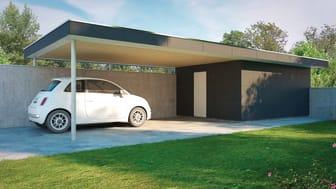 De mindre modul-formaten passar bra till exempel på en carport