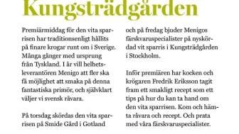 Sparrispremiär i Kungsträdgården