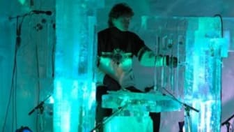 Iskall underhållning i Malmö City i helgen - Isskulptering och konsert med isinstrument