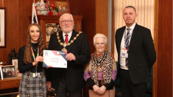 Mayor of Bury recognises achievement of apprentice