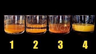 DOT SHOT drycken (nr 4) skiljer sig från andra gurkmeja-produkter där all gurkmeja/curcumin ligger på botten.