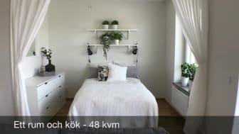Ett rum och kök på Grönkulla Gård, Drottninghög