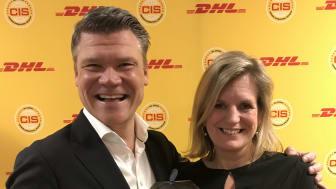 Peter Ervasalo, vd, och Lisa Göthberg, HR-chef, DHL Express Sverige