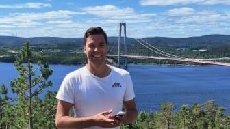 Marcus Strömsten på Höga Kusten Destinationsutveckling hoppas att många besökare och Högakustenbor laddar ner appen i sin mobil och upplever att den är ett bra verktyg för att lättare kunna utforska destination.