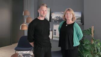 Jesper Karlsson, miljösamordnare, och Tina Francke, kontorschef på Liljewall i Malmö.