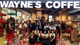The grand opening of Wayne's Coffee, Ho Chi Minh City, Vietnam