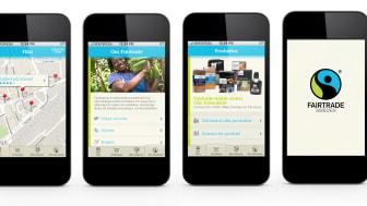 Fairtrades mobilapp - skärmar