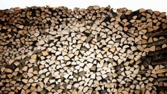 Gut gelagertes, trockenes Brennholz verringert den Feinstaubausstoß erheblich