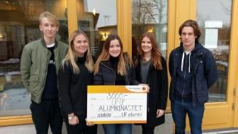 Up UF vann första pris i Alumninästet