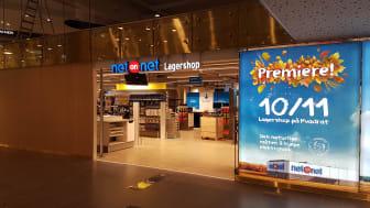 Entré till NetOnNets första Lagershop i Norge