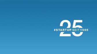 Das Jubiläumsjahr steht unter dem Motto #startupseit1995.