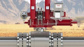 A Rotork GO actuator fitted with an ELB as supplied to the Chinese natural gas pipeline to provide increased line break safety.