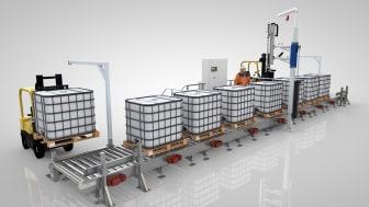 AdvancedLine-28 används vid fyllning av IBC'er