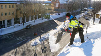 Säker takskottning i Umeå. Fotograf:  Mikael Lundgren