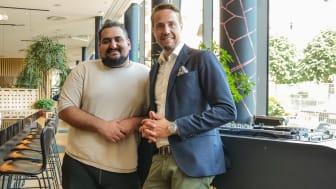 Givar Shabani och Henrik Berghult tillsammans på Clarion Hotel Sign