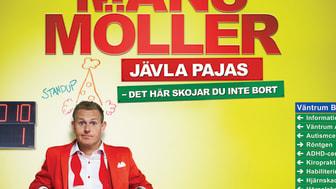 Dundersuccé och utsålda hus för Måns Möller nu förlängs höstens turné med 6 nya städer.