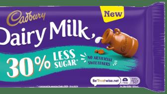 Cadbury Dairy Milk, the nation's favourite chocolate bar*, which has been around since 1905, has now added Cadbury Dairy Milk 30% Less Sugar to its range.