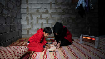 Mohammed skadades när hans hus bombades. Nu får han psykosocialt stöd av Rädda Barnen