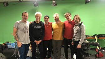 Fr v Ola Gustafsson, Georg Wadenius, Pugh Rogefeldt, Andreas Dahlbäck, Martin Hederos och Jerker Odelholm.