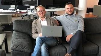 Roderick Hrisov och Ahmed Krayem är två av ägarna till IT-företaget The Farm Interactive. –Vi vill hjälpa andra företag att ta sin del av IT-evolutionen.