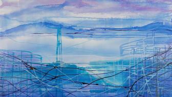Tiina Herttuan maalaus Meeting 1 (2012)