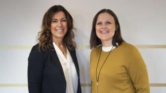 Eva Nyh Hederberg, vd på BizMaker och Sara Nylund, vice ordförande Regionstyrelsen