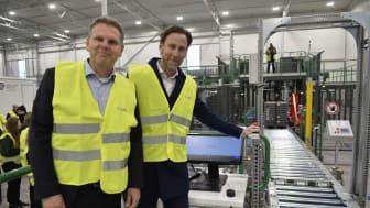 Klas Balkow o Nicholas Pettersson inviger lager Jönköping