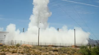 The Hi-C imager being fired into the Earth's atmosphere from a New Mexico missile range
