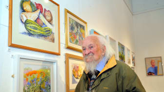 David Swithenbank with some of his work.