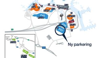 Stockholm Arlanda Airports nya terminalnära parkering. Källa Swedavia.