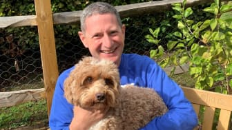Jason parker with his cockapoo Ralph