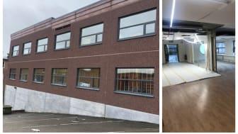 Yrkesgymnasiet öppnar på Getängsvägen i Borås i höst och just nu renoveras de 1230 kvadratmeter stora lokalerna.