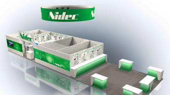 Nidec's booth at CES 2019 (product displays not shown)