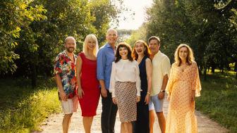 Fra venstre: Benjamin Boe Rasmussen, Xenia Lach Nielsen, Niels Olsen, Susanne Bier, Bodil Jørgensen, Silas Holst & Maria Lucia - Fotograf: Miklos Szabo