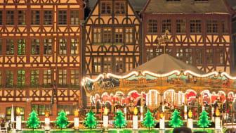 Frankfurt am Main: Ostzeile, Weihnachtsmarkt auf dem Römerberg, abends ©DZT e.V. F: Keute, Jochen