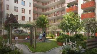 Det planeras för en prunkande fruktträdgård på innergården i Lilla Varvsgatan