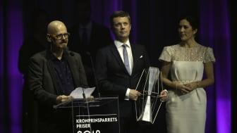 Forfatter Kim Leine modtog Kronprinsparrets Kulturpris 2018.