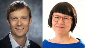 Till vänster Erik Melén, professor och barnallergolog, KI samt till höger Kristina Ljungros, generalsekreterare Astma- och Allergiförbundet.