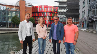 Robert Åberg, Karin Wikander (Sigma Technology), Robert Spertina, Bertil Moberg (iioote). Foto: Sigma Technology