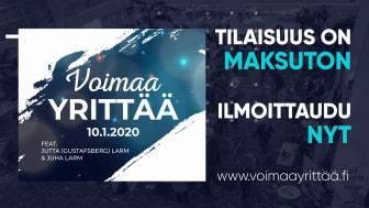 Voimaa yrittää 2020 -tapahtuma on Imatran kaupungintalolla 10.1.2020