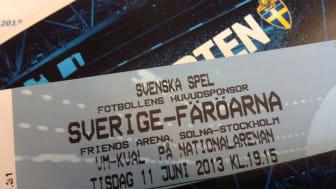 Fri entré och chans att vinna bra biljetter till VM-kvalmatch på Friends Arena - missa inte nästa hemmamatch 11 maj!
