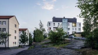 På Chalmersområdet i Göteborg ligger HSB Living Lab som är labb och studentboende i ett